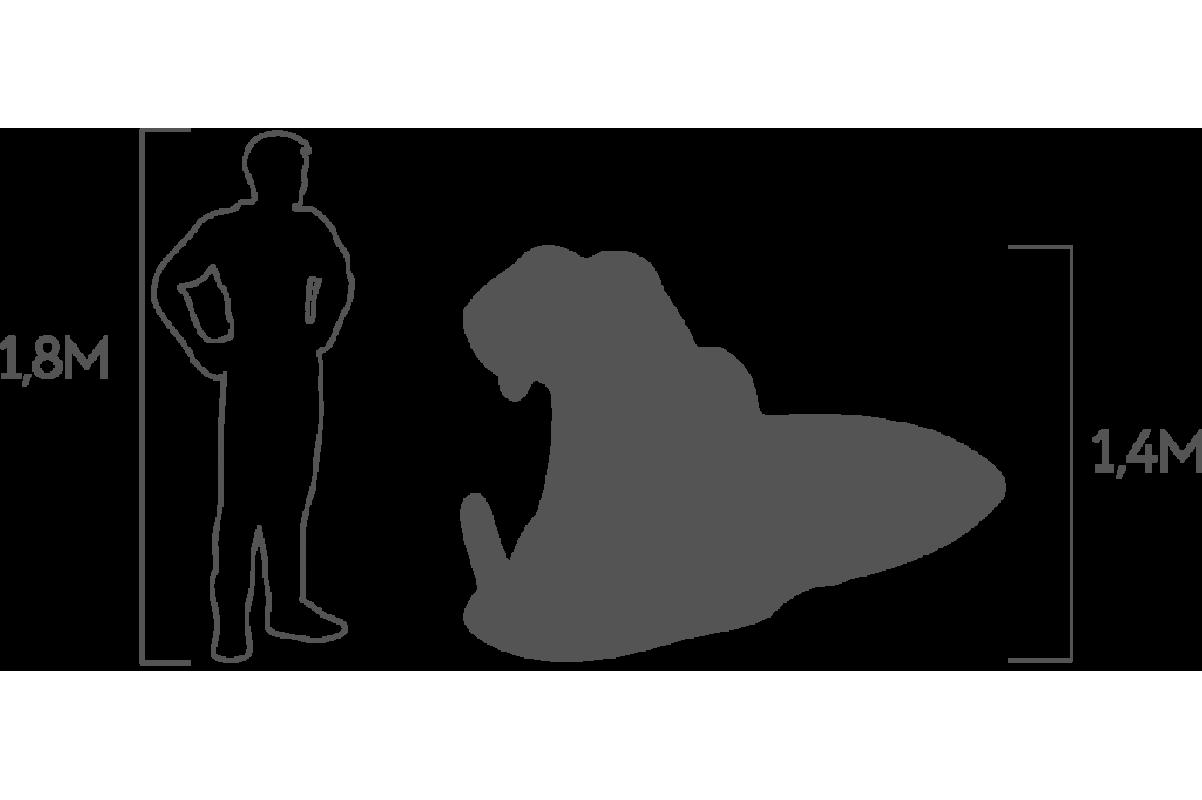 Топиари Бегемот в воде большой - Фото 4