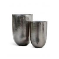 Кашпо Treez Effectory Metall высокий конус стальное серебро от 55 до 67 см