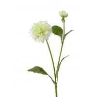 Георгин искусственный бело-зеленый 48 см