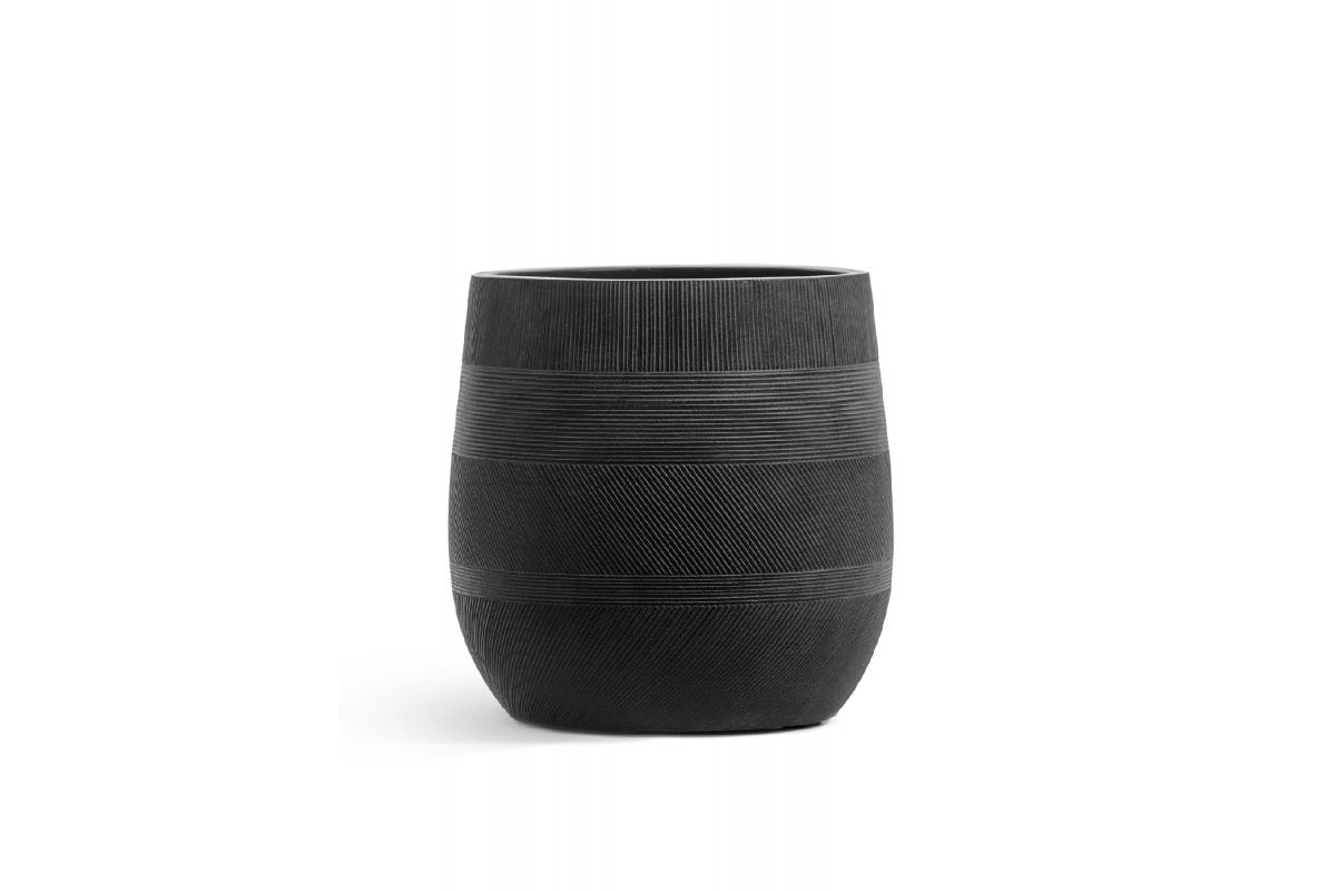 Кашпо Treez Ergo Graphics округлая чаша черный графит от 31 до 43 см - Фото 2