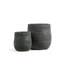 Кашпо Treez Ergo Graphics округлая чаша окись с медной патиной от 31 до 43 см