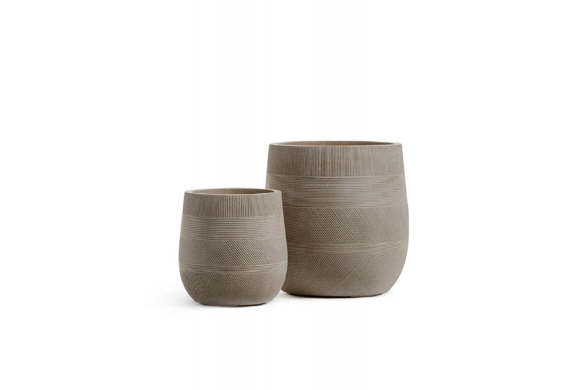 Кашпо Treez Ergo Graphics округлая чаша капучино от 31 до 43 см