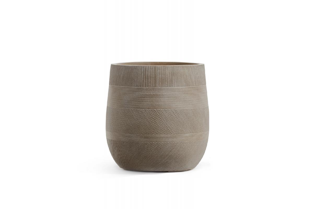 Кашпо Treez Ergo Graphics округлая чаша капучино от 31 до 43 см - Фото 2