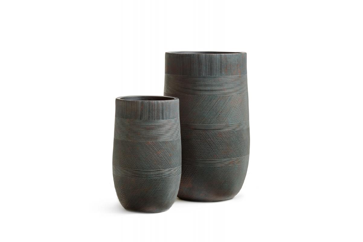 Кашпо Treez Ergo Graphics высокая округлая чаша окись с медной патиной от 54 до 75 см