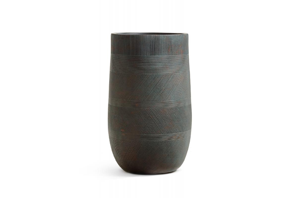 Кашпо Treez Ergo Graphics высокая округлая чаша окись с медной патиной от 54 до 75 см - Фото 2