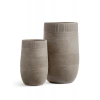 Кашпо Treez Ergo Graphics высокая округлая чаша  капучино от 54 до 75 см