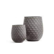 Кашпо Treez Ergo Diamond округлая чаша мокко от 35 до 50 см