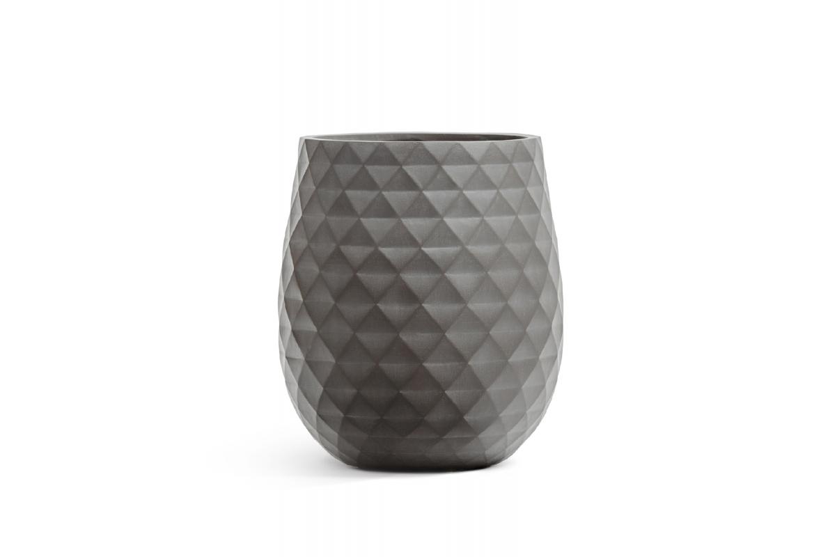 Кашпо Treez Ergo Diamond округлая чаша мокко от 35 до 50 см - Фото 2