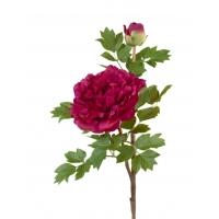 Пион ветвь малая искусственный бордовый 35 см