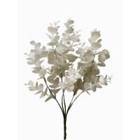 Ветка Эвкалипта искусственная новогодняя белая в блестках 34 см