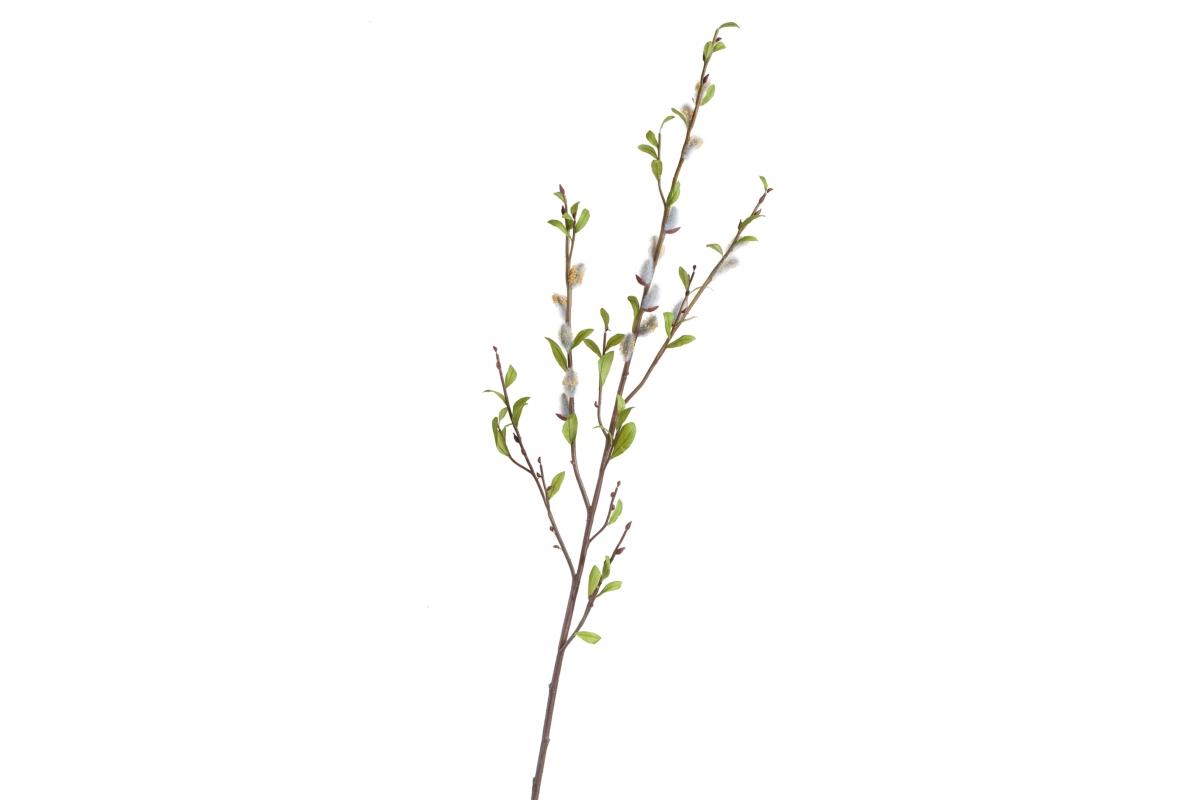 Ветвь Верба серебристая с почками искусственная 120 см