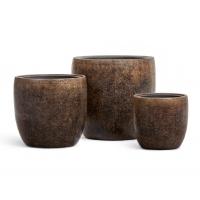 Кашпо Treez Effectory серия Metal конус чаша Rough с золотой патиной от 30 до 49 см