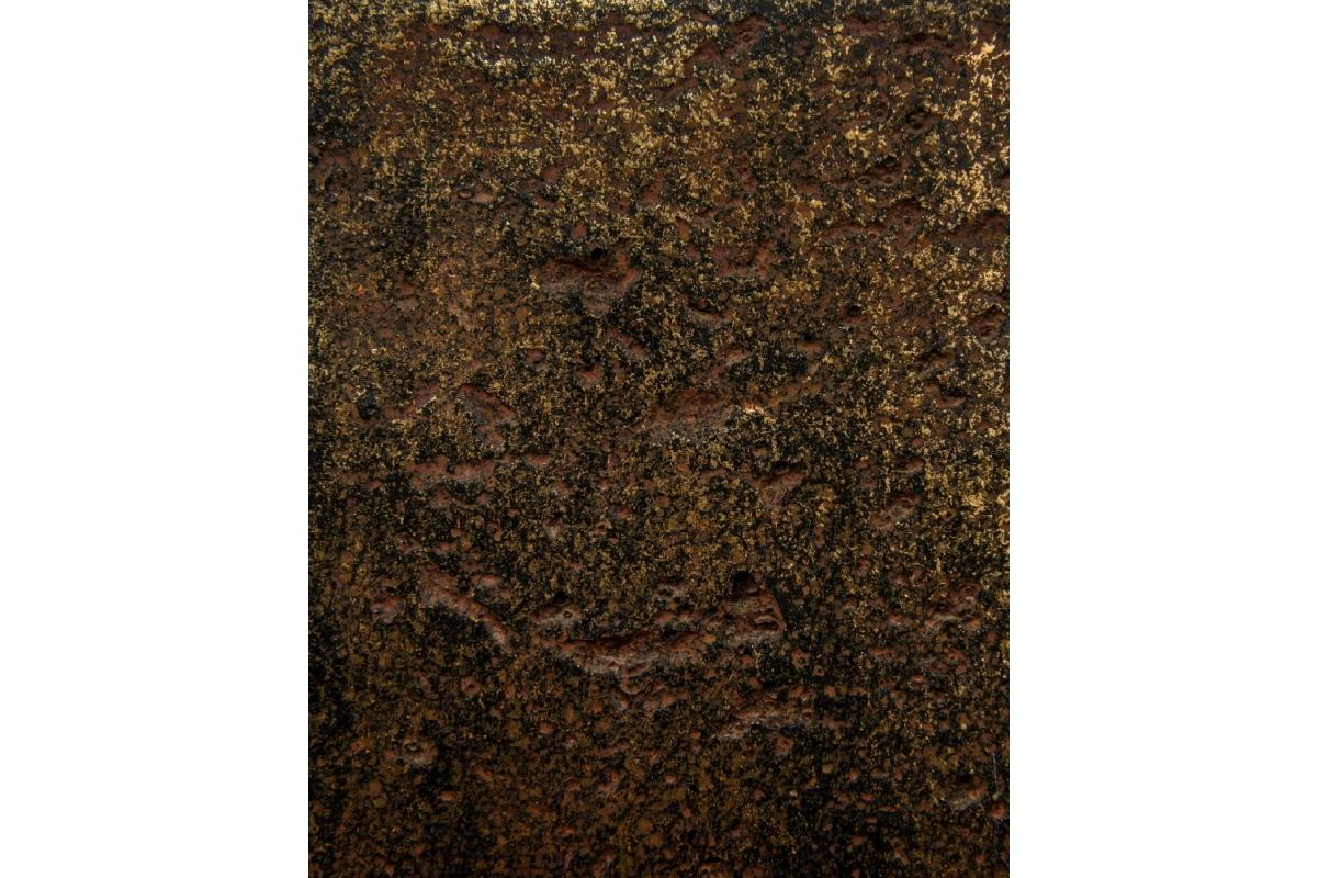 Кашпо Treez Effectory Metal высокий округлый конус Rough с золотой патиной от 72 до 95 см - Фото 2