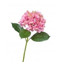 Гортензия Grande Fiore искусственная ярко-розовая 70 см