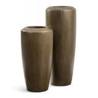 Кашпо Treez Effectory Metal высокий конус Design чернёная бронза от 90 до 117 см