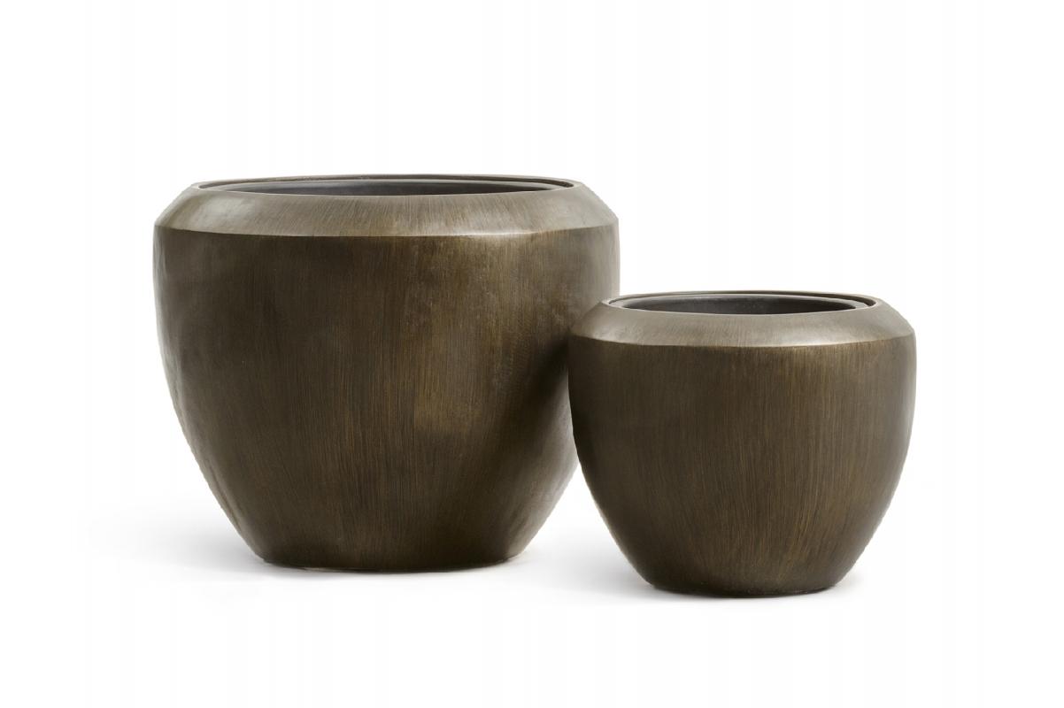 Кашпо Treez Effectory Metal чаша Design чернёная бронза от 33 до 45 см