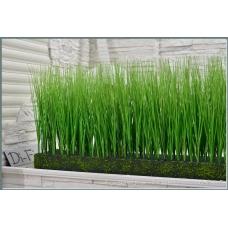 Трава Осока искусственная в модуле для установки в кашпо или ниши, h44х150х20см