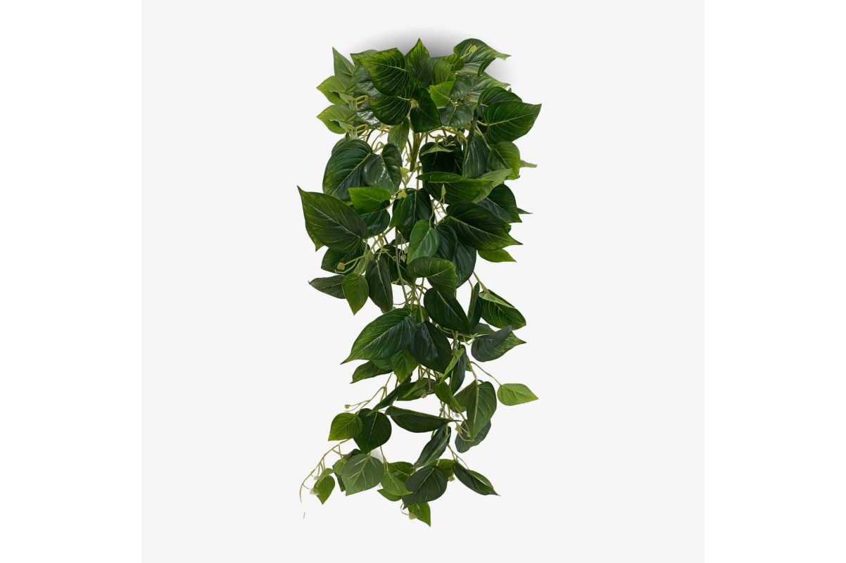 Филодендрон искусственный ампельный зеленый 100 см (Real Touch)