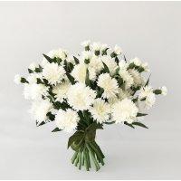 Букет из 25 белых Васильков искусственный 35 см