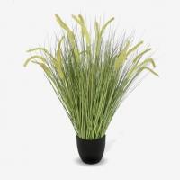 Трава Пеннисетум лисохвост зеленая с колосками искусственная 100 см
