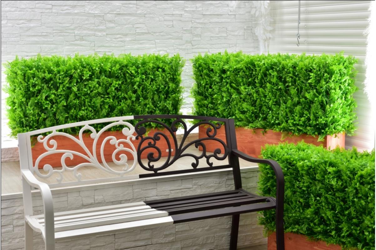 Изгородь искусственная из Папоротника Duo, h60х100х30см. - Фото 7