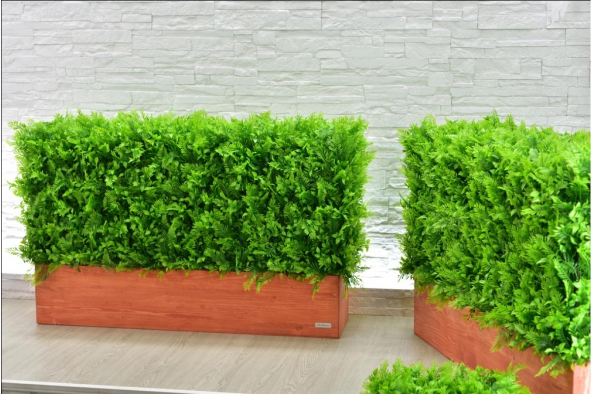 Изгородь искусственная из Папоротника Duo, h60х100х30см. - Фото 3