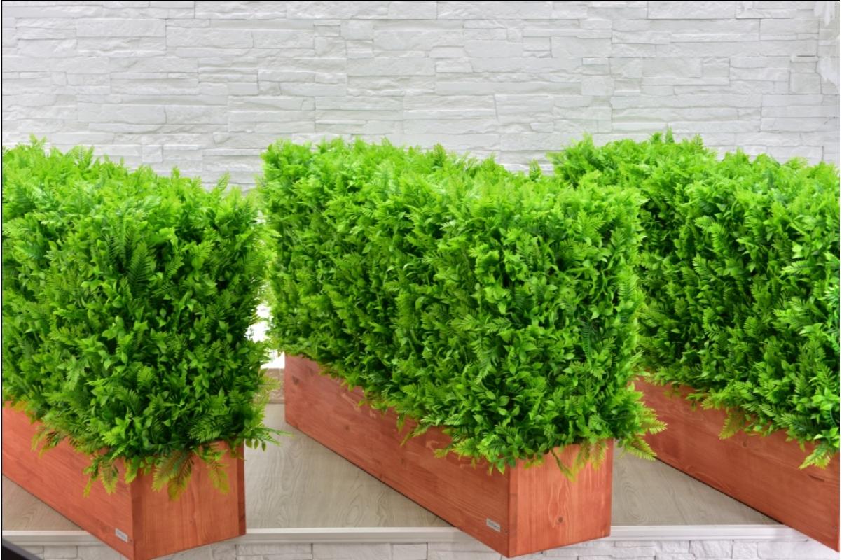 Изгородь искусственная из Папоротника Duo, h60х100х30см. - Фото 5
