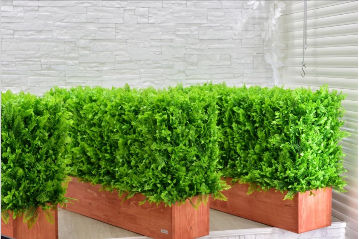 Изгородь искусственная из Папоротника Duo, h60х100х30см. - Фото 6