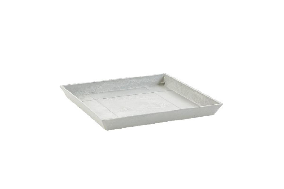 Поддон Экопотс квадратный L35,5 W35,5 H3,5 см светло-серый