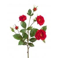 Роза Вайлд ветвь искусственная красная 41 см