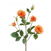 Роза Вайлд ветвь искусственная персиково-оранжевая 41 см