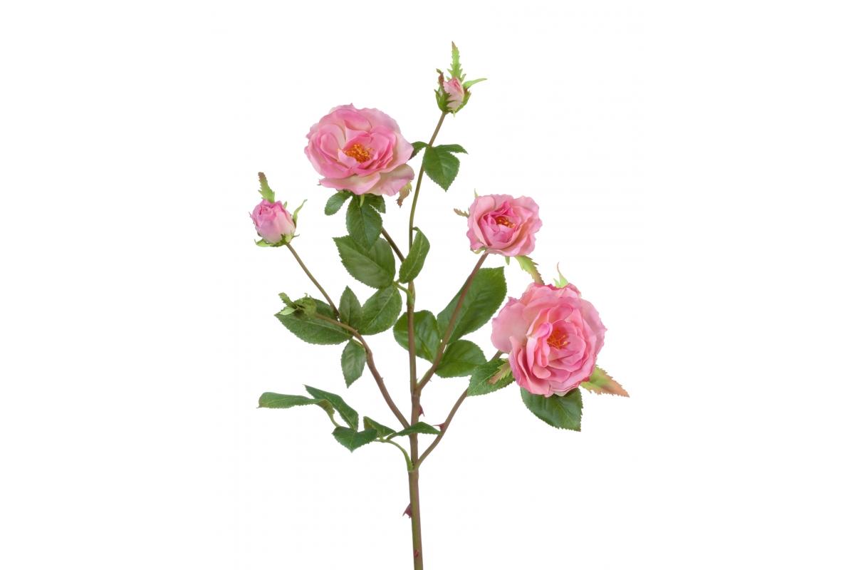 Роза Вайлд ветвь искусственная розовая 41 см
