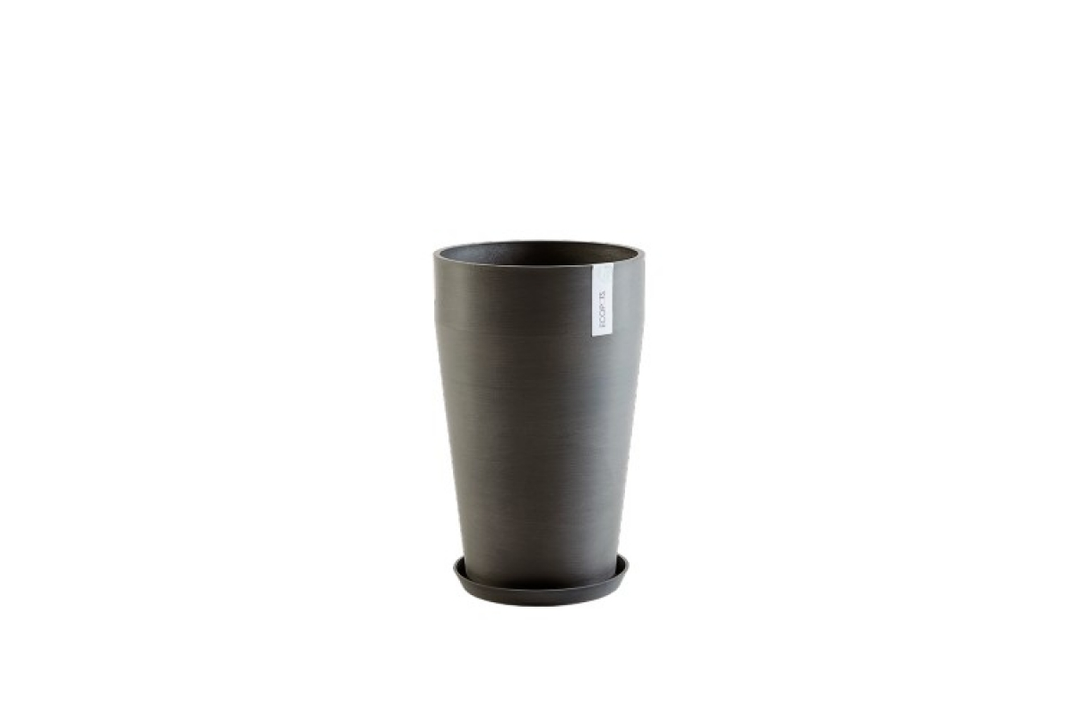Кашпо Экопотс Sankara middle D35 H55 см высокое антрацит - Фото 3
