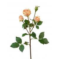 Роза Пале-Рояль ветвь искусственная персиково 47 см