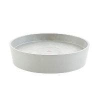 Поддон Экопотс круглый D41,6 H9 см светло-серый с колесами