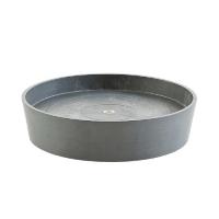 Поддон Экопотс круглый D41,6 H9 см см серый с колесами