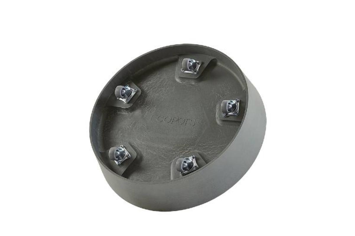 Поддон Экопотс круглый D41,6 H9 см см серый с колесами - Фото 2