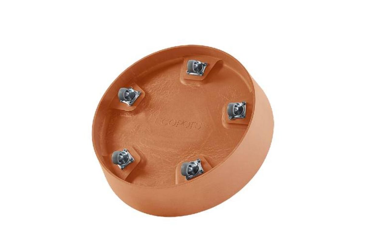 Поддон Экопотс круглый D41,6 H9 см терракотовый с колесами - Фото 2