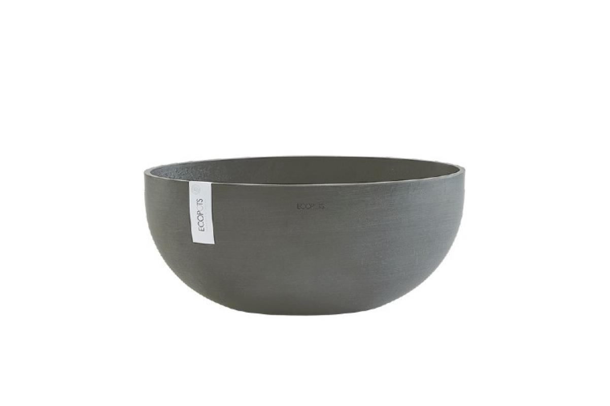 Кашпо Экопотс Sofia L43 W25 H17,5 см серое