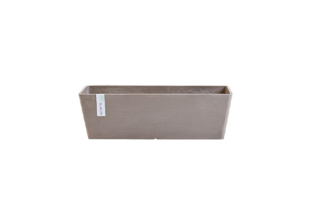 Кашпо Экопотс Bruges L45 W17 H17 см серо-коричневое