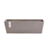 Кашпо Экопотс Bruges L55 W17 H17 см серо-коричневое