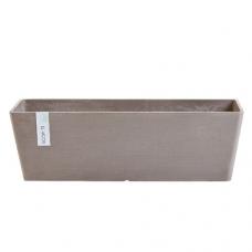 Кашпо Экопотс Bruges L65 W20 H20 см серо-коричневое