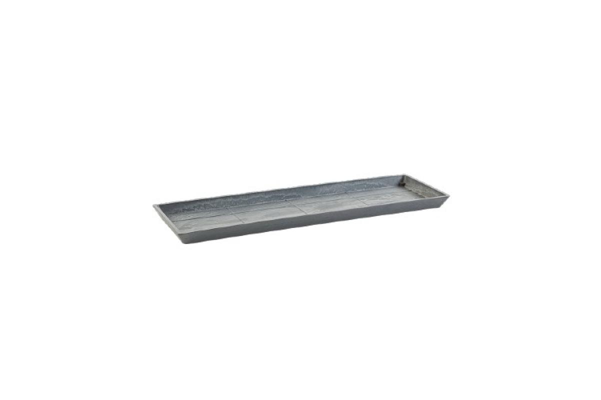 Поддон Экопотс прямоугольный L47,5 W19,5 H2,5 см серый