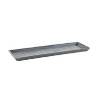 Поддон Экопотс прямоугольный L57,5 W20,5 H2,5 см серый