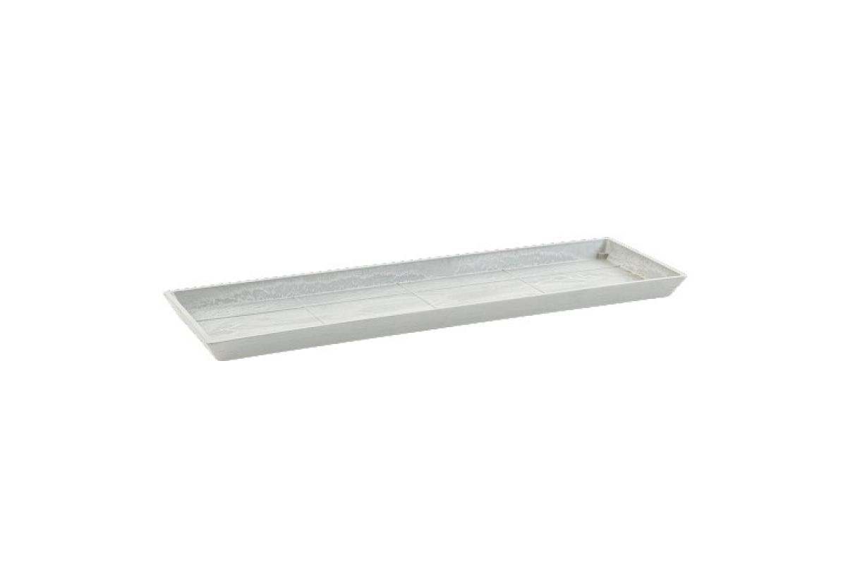 Поддон Экопотс прямоугольный L67,5 W22,5 H2,5 см светло-серый