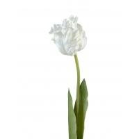 Тюльпан Попугай искусственный белый 77 см