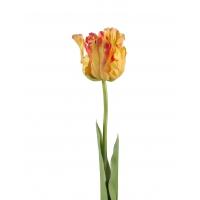 Тюльпан Попугай искусственный желто-оранжевый 77 см