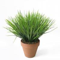 Трава Осока искусственная в керамическом кашпо 30 см