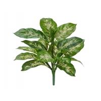 Диффенбахия искусственная бело-зеленая куст без кашпо (Real Touch) 40 см