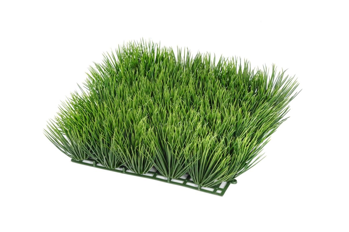 Коврик Газон-трава искусственная высокая 25x25 см